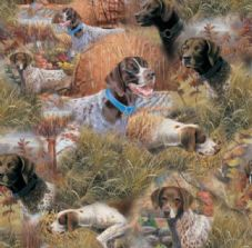 Nutex Gun Dog / German short haired Pointer Dog Fabric - Shooting Rabbiting
